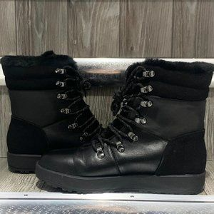 Call It Spring Faux Fur Military Boots Black 7 EUC
